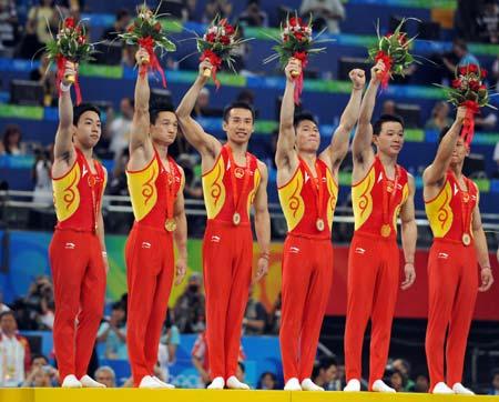 equipe masculina da china é tricampeã dos jogos olímpicos na ginástica artística