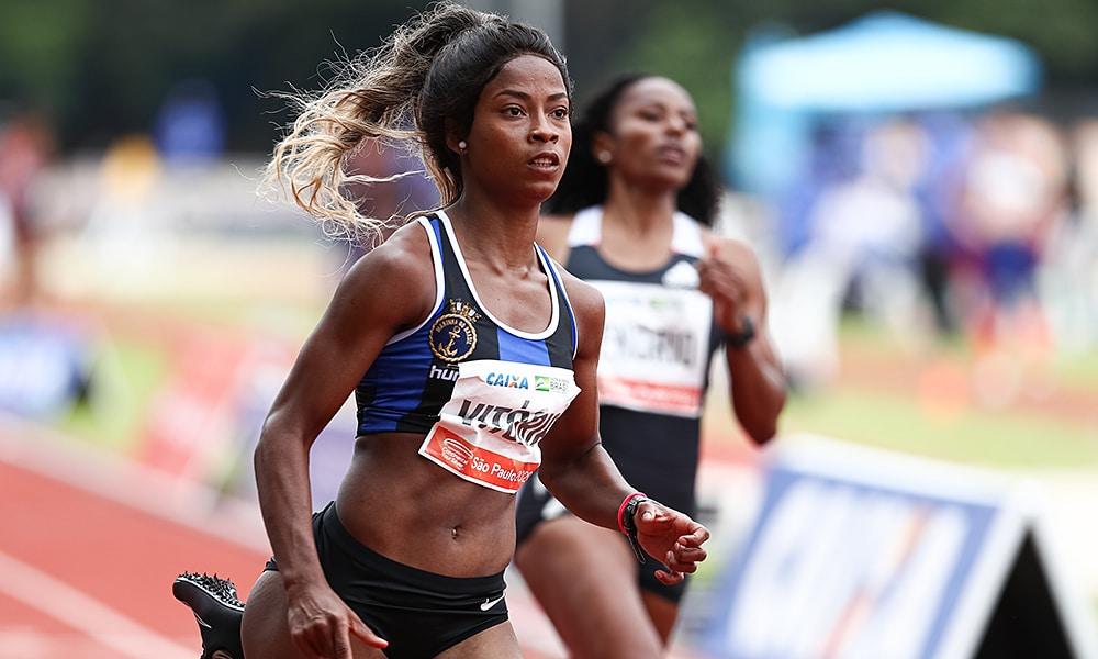 Vitoria Rosa GP Brasil de atletismo 100 m