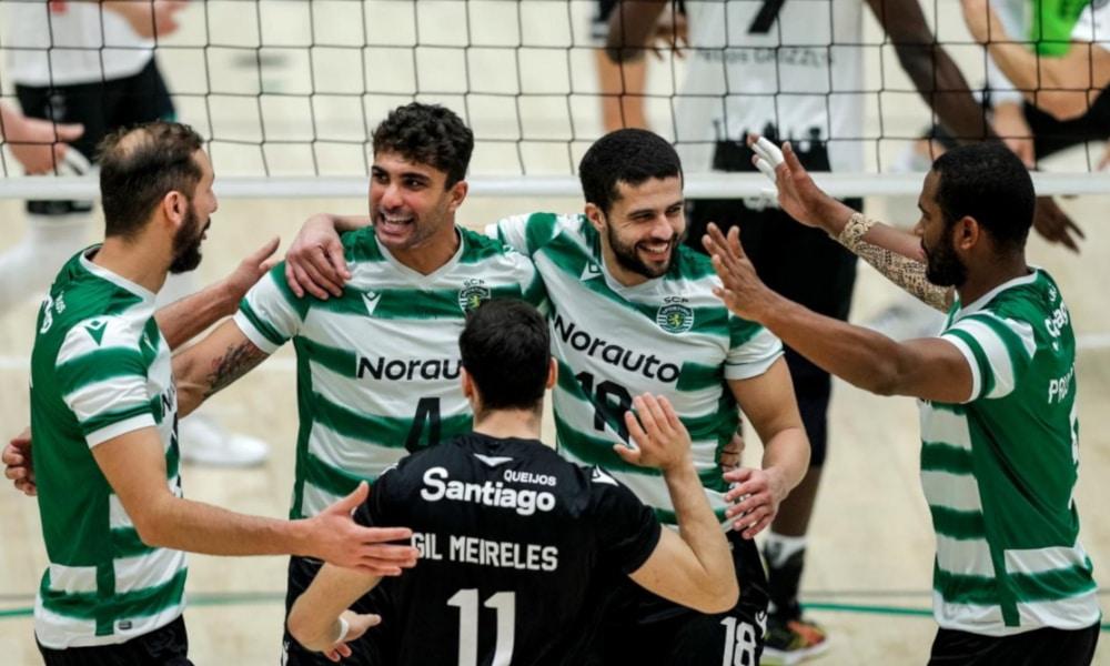 O Sporting conta com sete brasileiros de vôlei em seu elenco (Mário Vasa/Sporting)