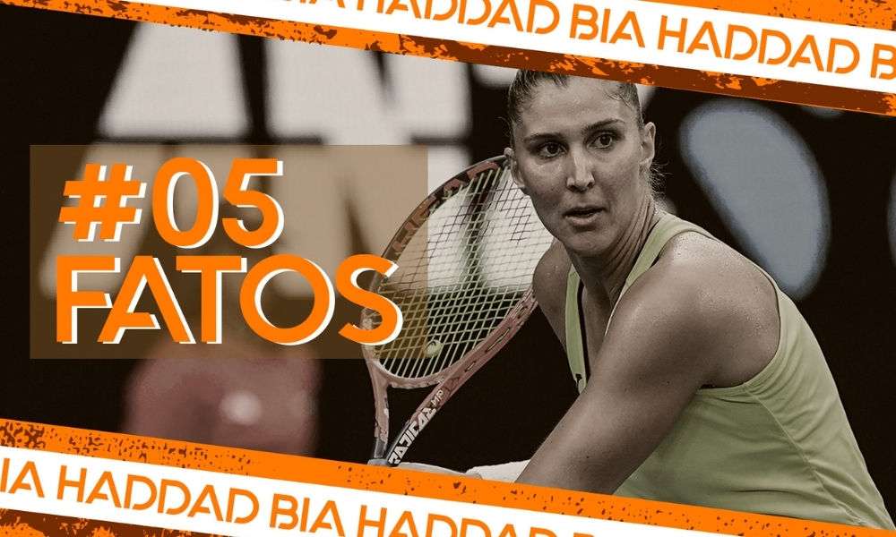 Bia Haddad, do tênis, na arte do 5 fatos (Arte: Caio Poltronieri)