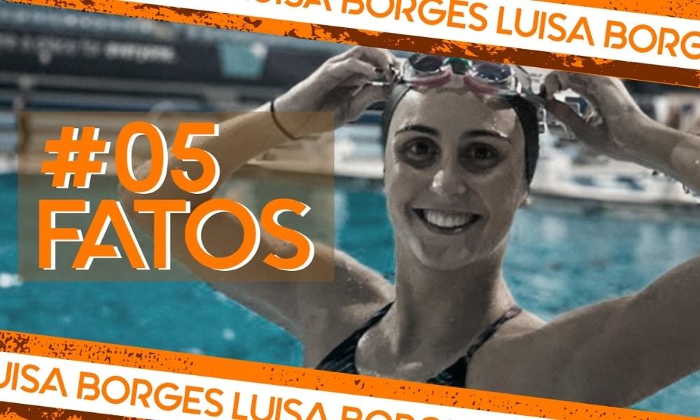 Luisa Borges, do nado artístico, na arte do 5 fatos, 5 curiosidades, quadro do Olimpíada Todo Dia