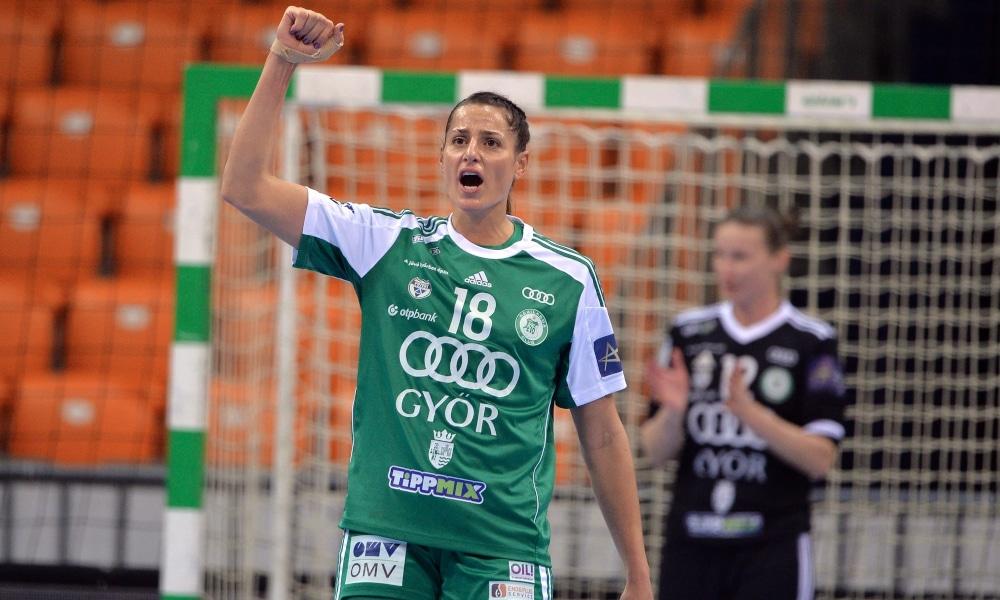 Duda Amorim marcou dois gols na vitória desta quarta (Facebook/gyoriaudietokcofficial)