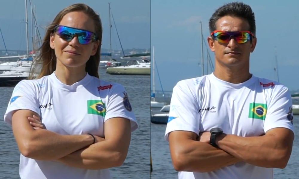 A dupla foi campeã da Copa Brasil de Vela de 2020 (Youtube/Gabi & Samuca Nacra 17)