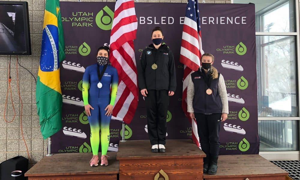 Marina Tuono conquistou três medalhas no monobob