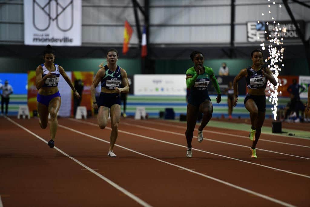 Rosangela Santos ouro Meeting Indoor Moudeville 60 m rasos