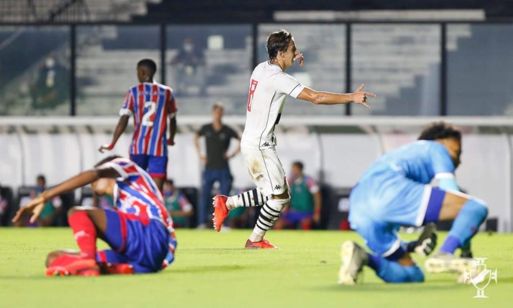 Matias Galarza fez o segundo gol do Vasco diante do Bahia pela Copa do Brasil Sub-20 (Rafael Ribeiro/Vasco)