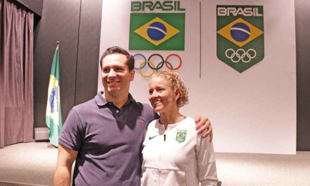 Na gestão anterior da Comissão de Atletas do COB, Yane Marques era vice de Tiago Camilo (COB/Divulgação)