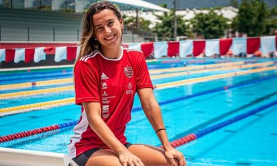 Larissa Oliveira natação Flamengo