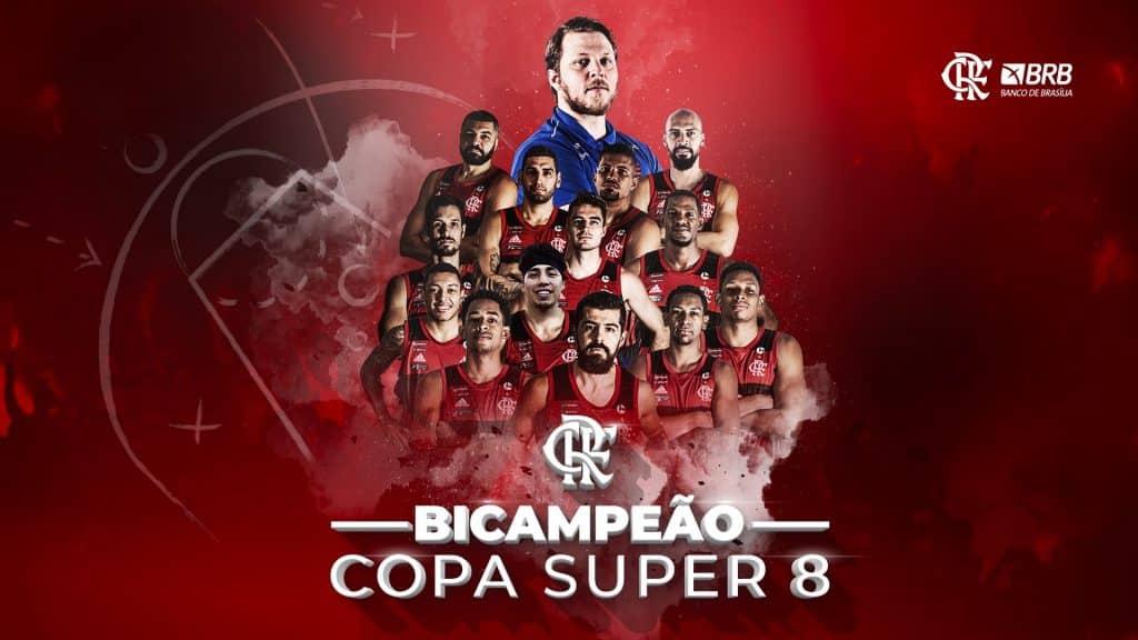 Flamengo campeão copa super 8 nbb basquete masculino arte