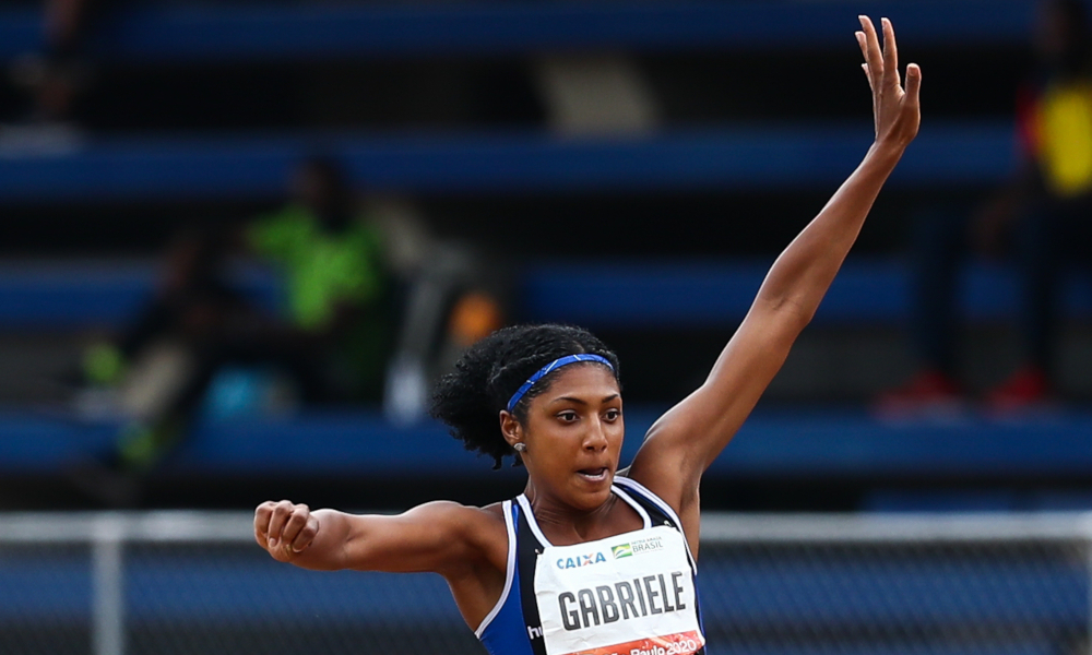 A atleta Gabriele Santos fechou 2020 em 12º lugar no ranking mundial da World Athletics, com 14,17 m (Wagner Carmo/CBAt)