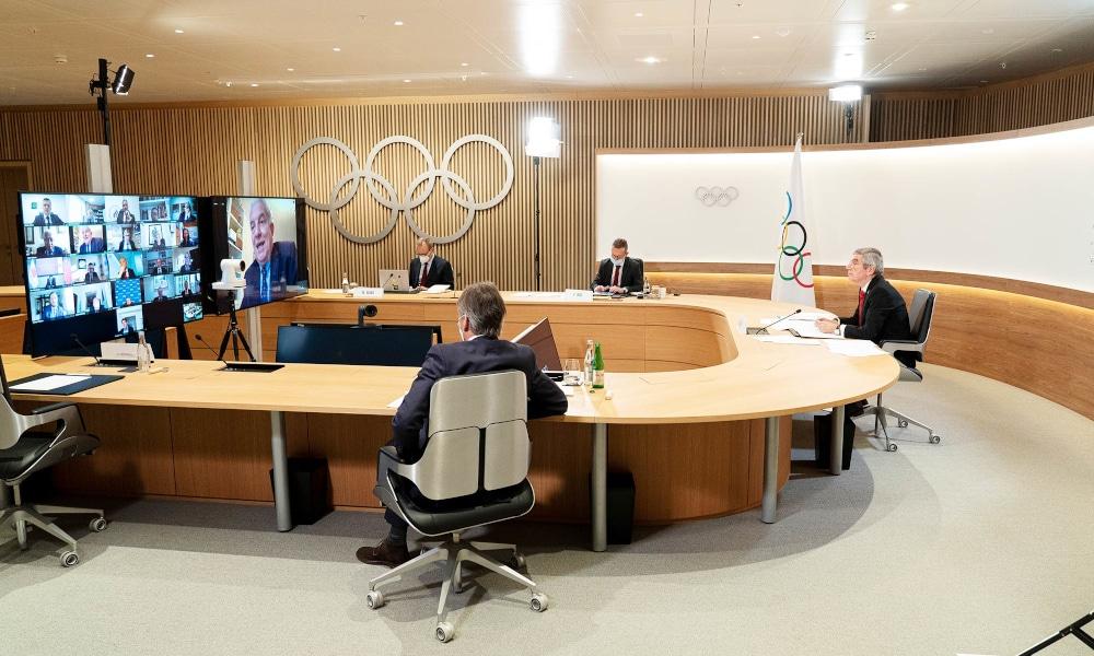 Thomas Bach, presidente do COI, fez um discurso otimista sobre a realização dos Jogos de Tóquio (Greg Martin/IOC)