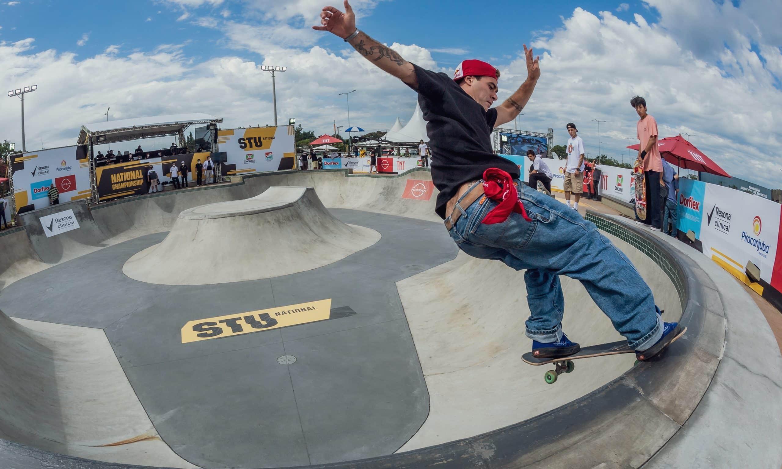 Pedro Barros campeão STU National Criciúma skate street skate park