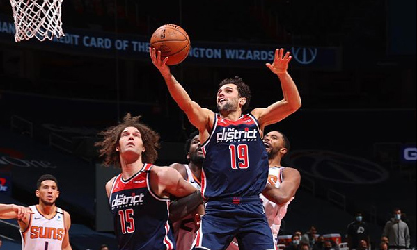 Raulzinho Washington Wizards NBA bandeja rebotes