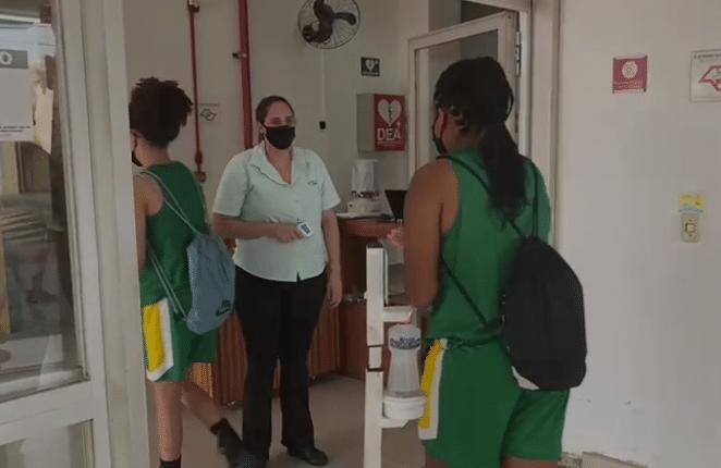 seleção feminina de basquete sub-18 Copa América treinos