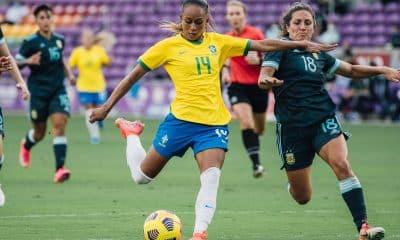 Adriana Brasil 4 x 1 Argentina She Believes futebol feminino