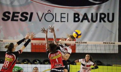 Sesi Bauru x Sesc RJ Flamengo Superliga de vôlei feminino 2021