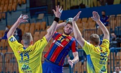 haniel langaro cinco gols barcelona x celje champions league de handebol masculino