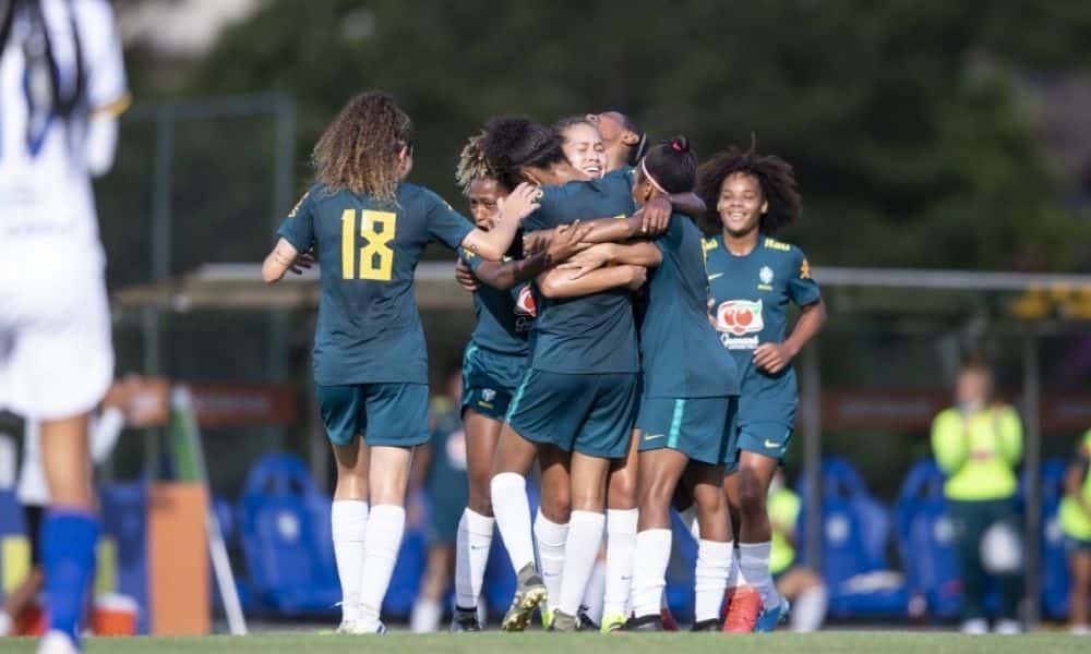 seleção brasileira sub-20 de futebol feminino vence o São josé