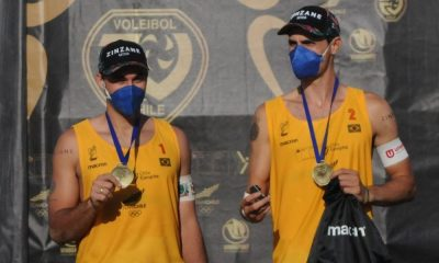 André e George medalha de ouro na etapa de Santiago do Circuito Sul-Americano de vôlei de praia
