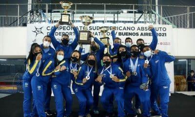 Brasil campeão geral do sul-americano de saltos ornamentais
