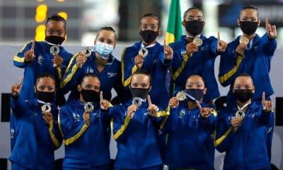 Brasil medalha de ouro rotina combinada nado artístico campeonato sul-americano de esportes aquáticos