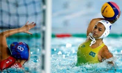 Brasil x Peru polo aquático feminino sul-americano de esportes aquáticos