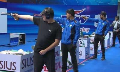 Felipe Wu fica em quarto lugar na pistola de ar 10 m na Copa do Mundo de tiro esportivo em Nova Déli