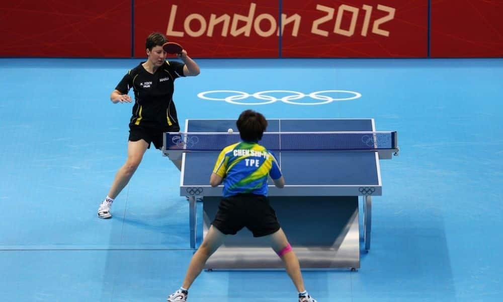 Em ação na competição de tênis de mesa em Londres-2012