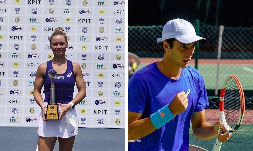 Laura Pigossi e Matheus Pucinelli são campeões de torneios da ITF
