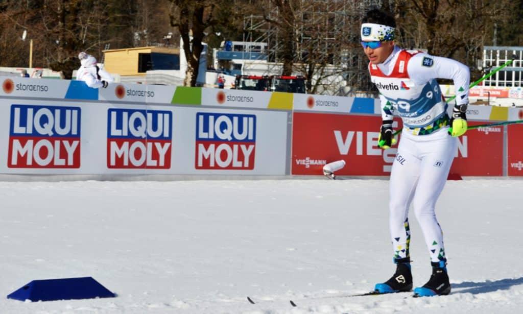 Manex Silva é uma jovem promessa do esqui cross-country brasileiro