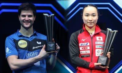 Os mesatenistas Ovtcharov e Ito, campeões no WTT Contender Doha