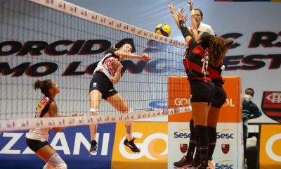 Sesc rJ Flamengo x Sesi Bauru Superliga de vôlei feminino