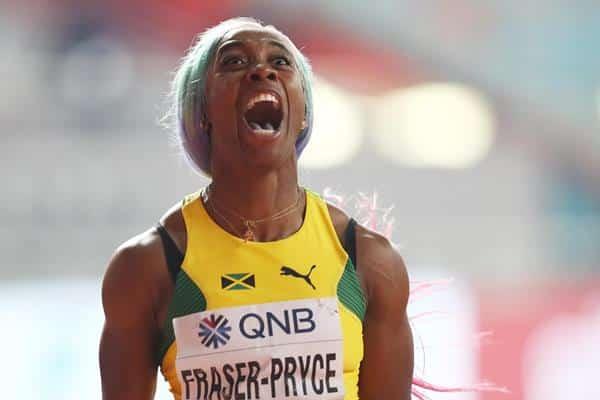 100m feminino Shelly-Ann Fraser-Pryce  Atletismo