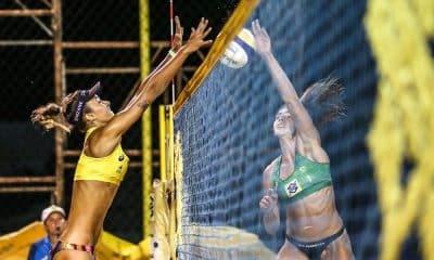 Thamela e Elize Maia garantiram vaga nas quartas no último jogo do dia (Wander Roberto/Inovafoto/CBV)