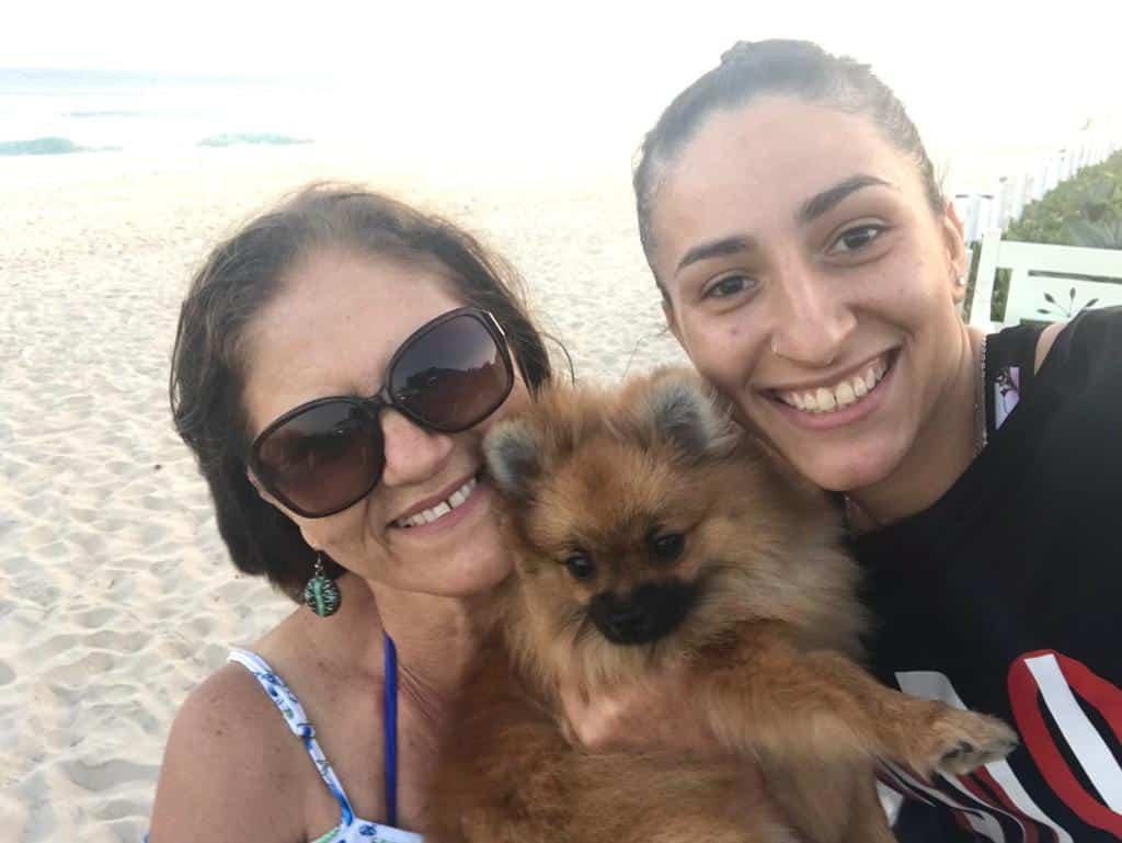 Patricia Matieli e Dona Sônia anos após o infarto