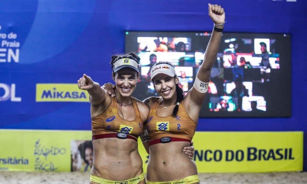 ágatha e duda ganham quinta etapa seguida do circuito brasileiro de vôlei de praia