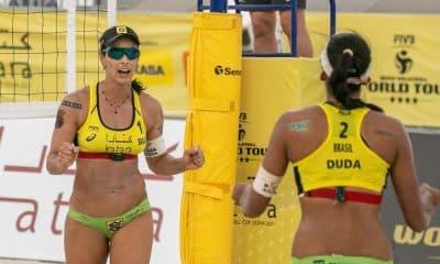 agatha e duda medalha de bronze na etapa de doha do circuito mundial de vôlei de praia