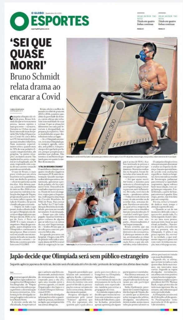 Bruno Schmidt jornal O Globo