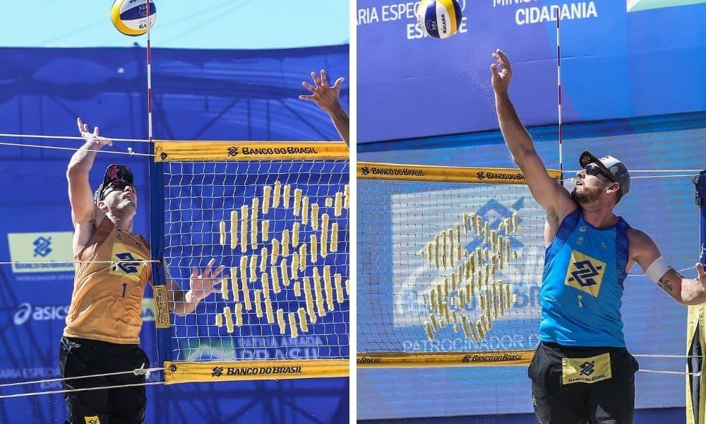george parceiro de andré e alison que forma dupla com álvaro filho na oitava etapa do circuito brasileiro de vôlei de praia