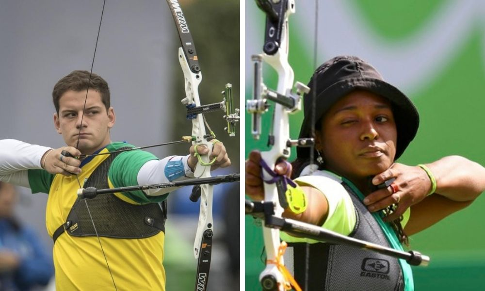 marcus d'almeida ane marcelle dos santos ouro na equipe mista do arco recurvo no campeonato pan-americano de tiro com arco
