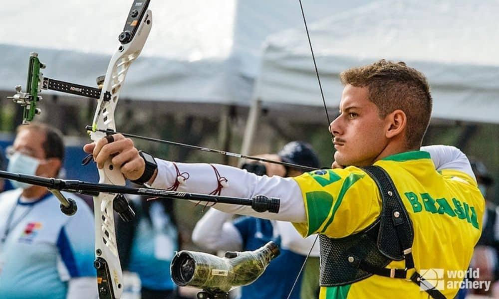marcus d'almeida equipe masculina arco recurvo campeonato pan-americano de tiro com arco