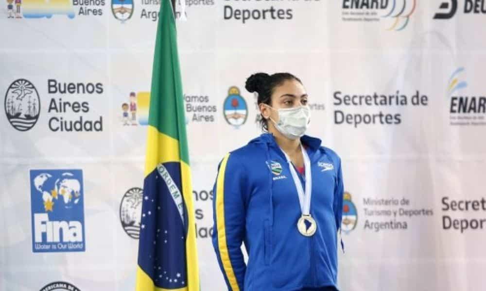 rafaela raurich 200 m livre campeonato sul-americano de esportes aquáticos