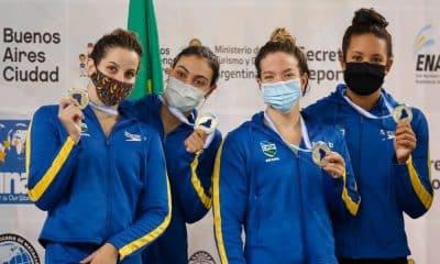 revezamento 4 x 200 m feminino campeonato sul-americano de esportes aquáticos