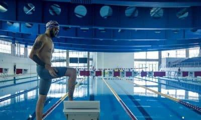 Ruiter Silva, campeão parapan-americano nos 50m livre S9, participou da tomada de tempo no CT Paralímpico e obteve resultados próximos aos seus melhores tempos em competição. Foto: Alê Cabral/CPB