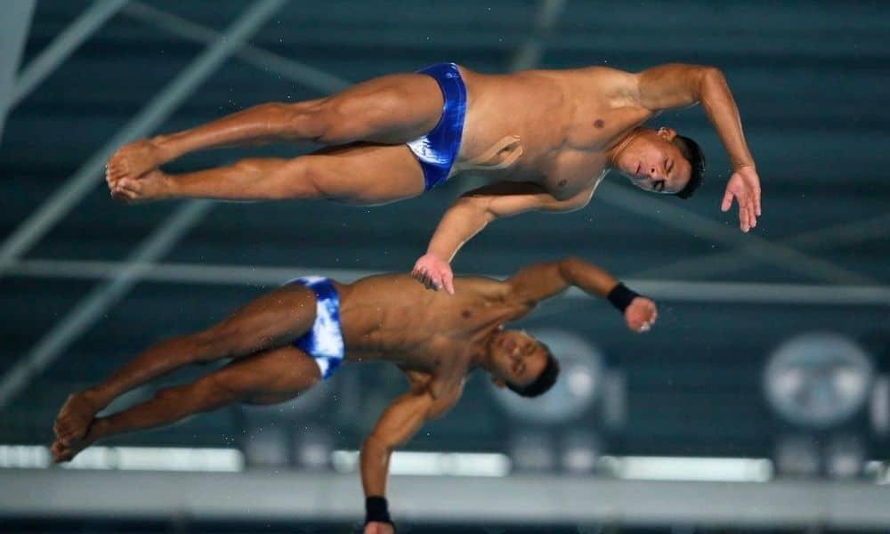 Kawan Pereira e Isaac Souza saltos ornamentais campeonato sul-americano de esportes aquáticos