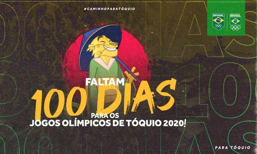 100 DIAS PARA OS JOGOS OLÍMPICOS DE TÓQUIO CONTAGEM REGRESSIVA DO COB