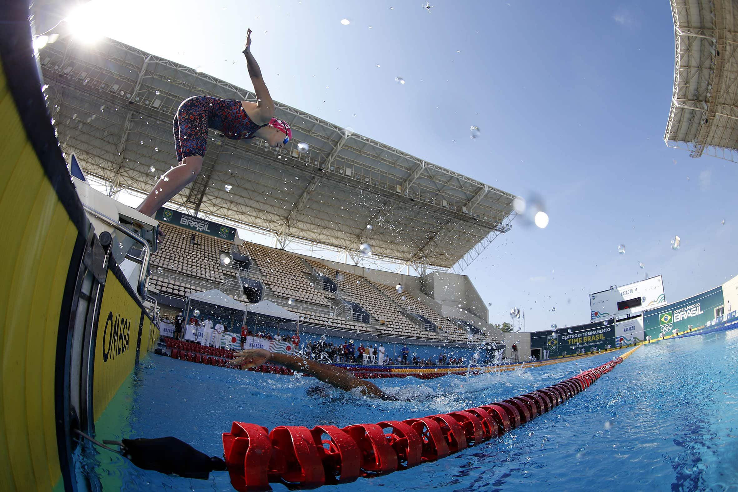 Seletiva Olimpica Brasileira de Natacao.