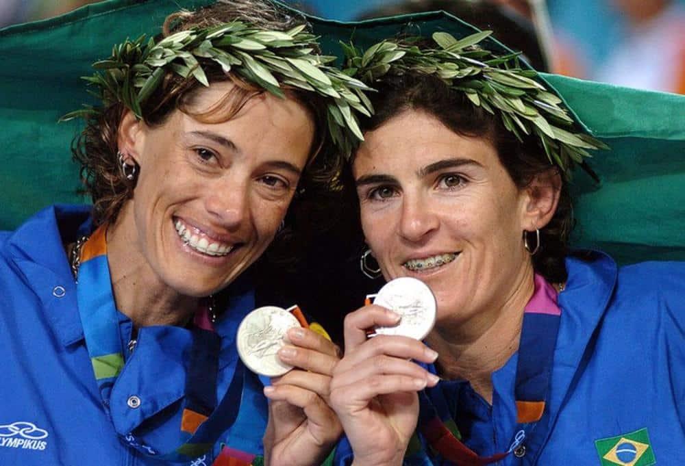 Vôlei de praia feminino  Adriana Behar e Shelda