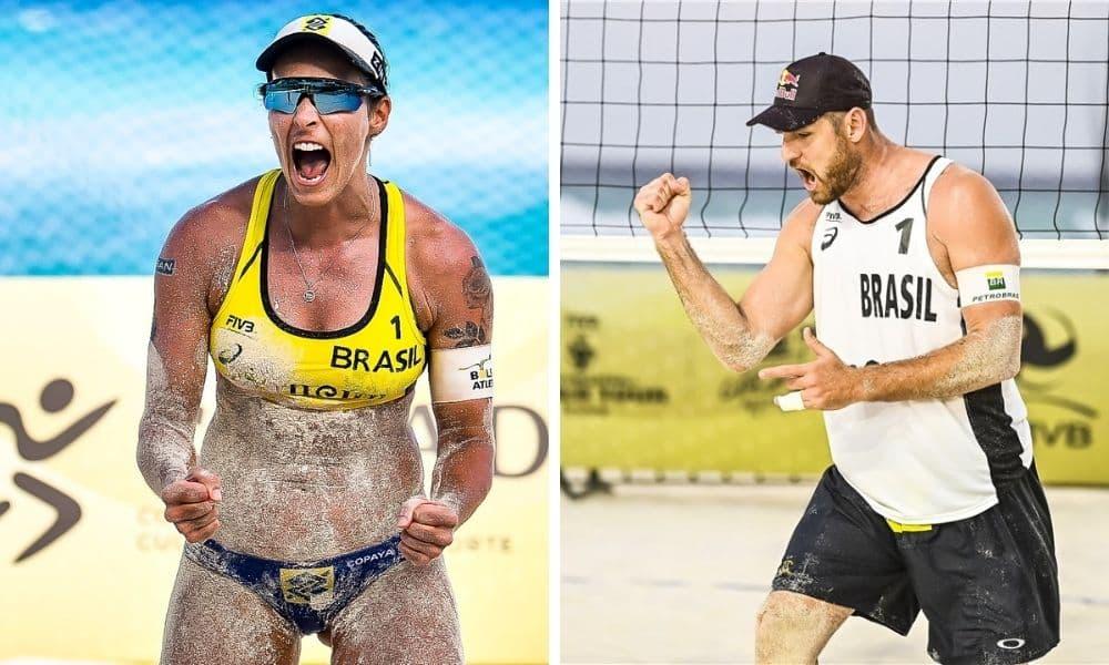 Ágatha e Duda Alison e Álvaro Filho sobrevivem e vão disputar as quartas de final no Cancún Hub Circuito Mundial de vôlei de praia
