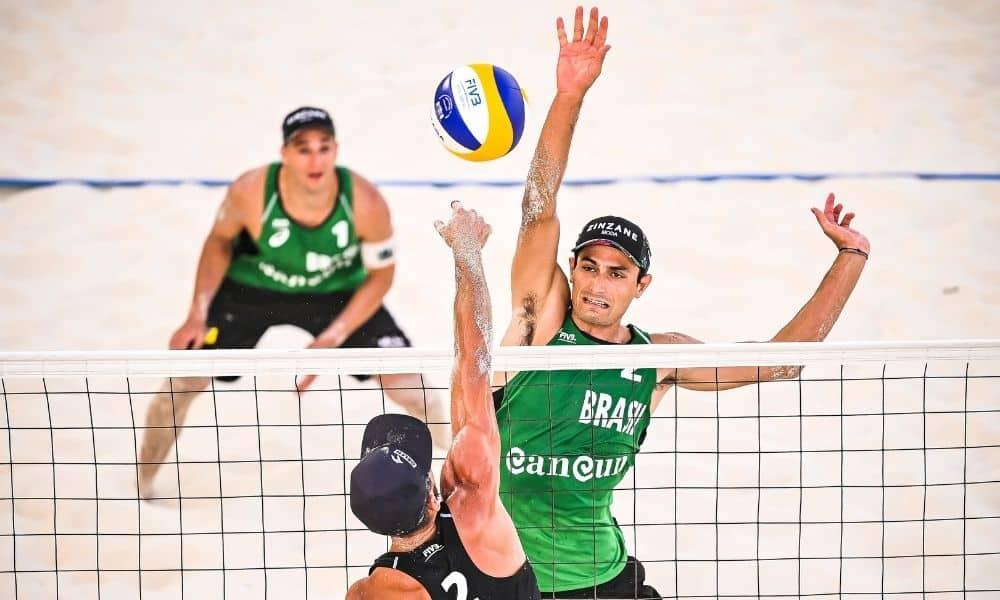 André e george contra Losiak e Kantor Cancún Hub Circuito Mundial de vôlei de praia